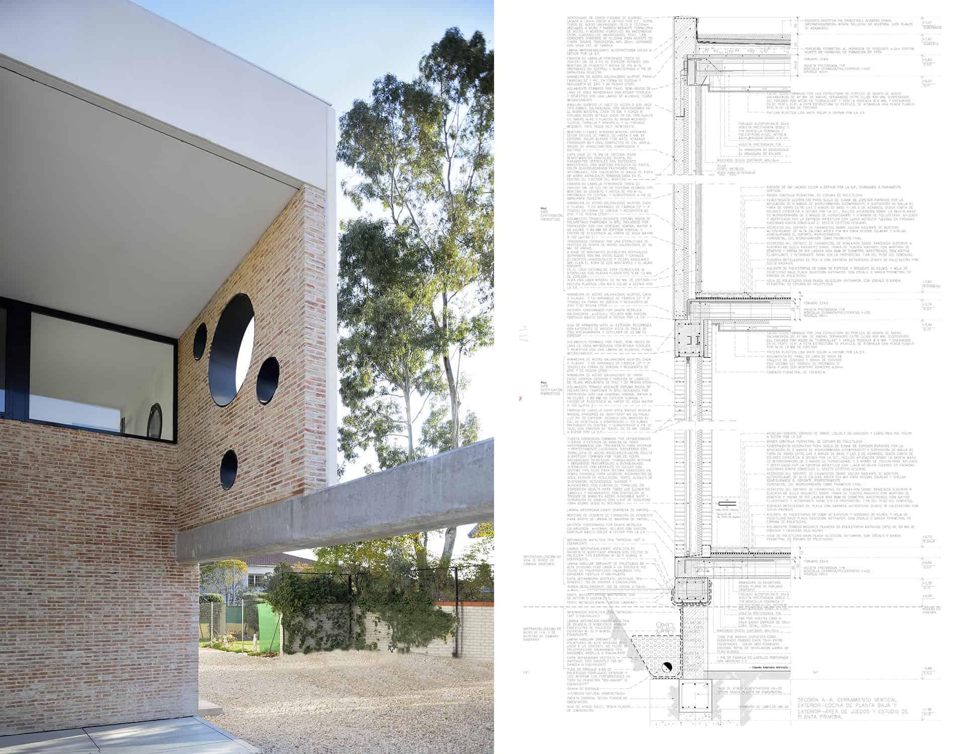 CASA_IA - detalle constructivo: prefabricado de hormigón y fábrica armada - LANDINEZ+REY | equipo L2G arquitectos, slp [ eL2Gaa ]