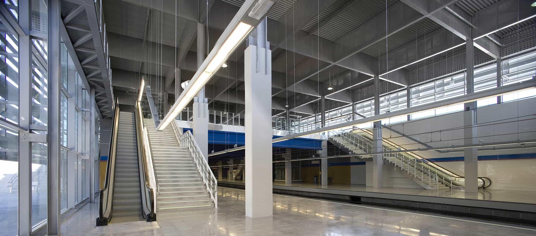 Estación METRO de Madrid - andenes -arquitectura transporte - Estación METRO de MADRID_LGV+LANDINEZ+REY   equipo L2G arquitectos, slp [ eL2Gaa ]