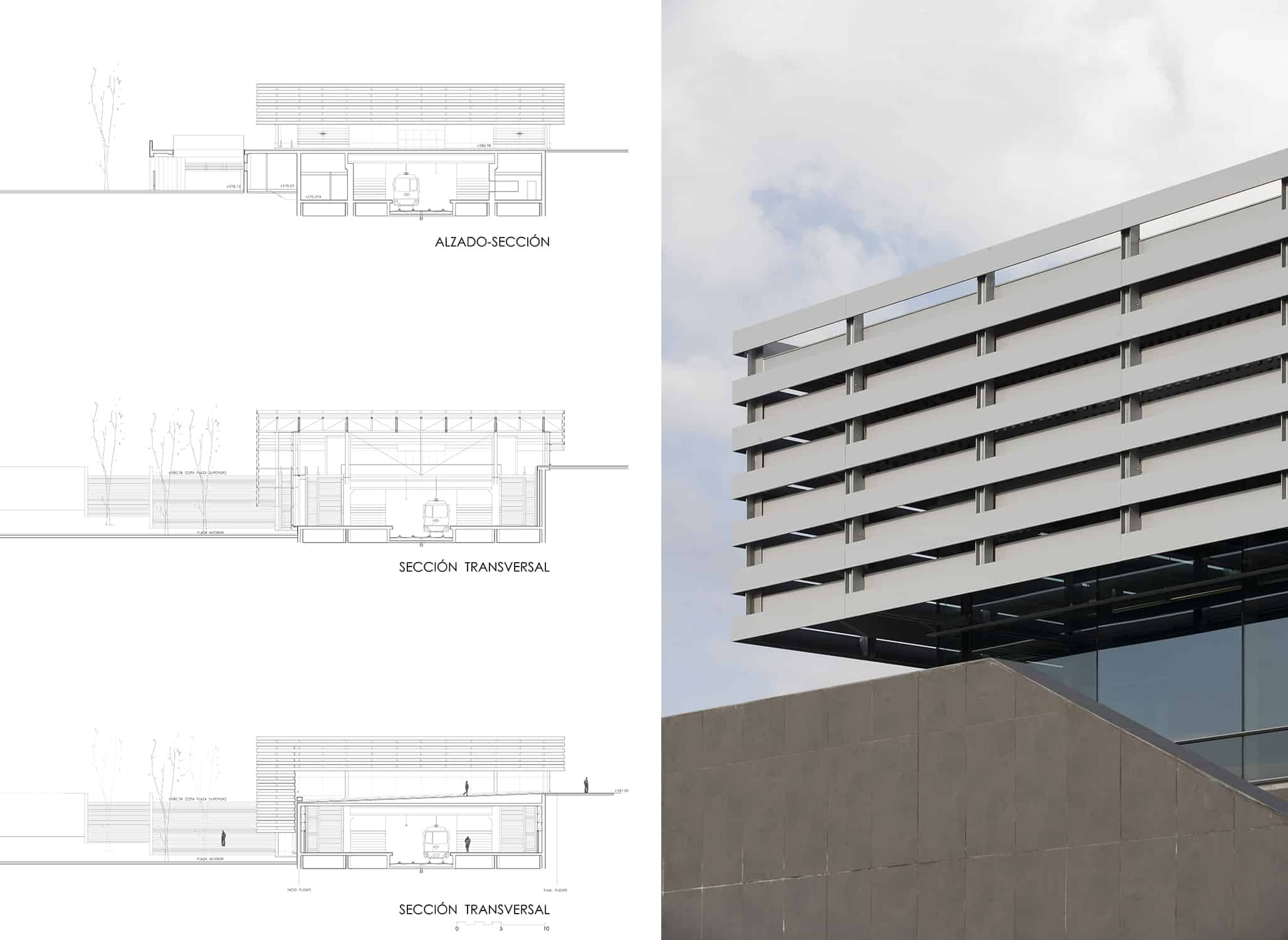 Secciones+Alzados Estación METRO de MADRID_LGV+LANDINEZ+REY   equipo L2G arquitectos, slp [ eL2Gaa ] - arquitectura del transporte