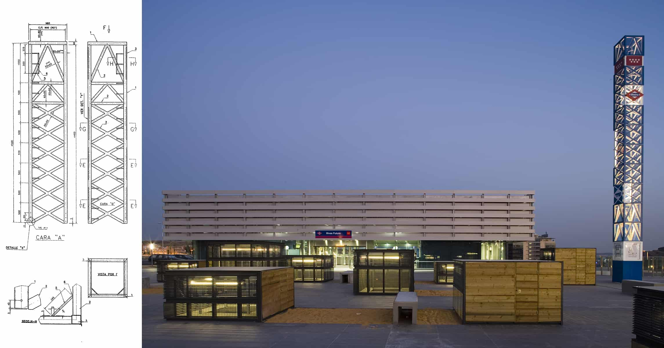 Hito METRO de MADRID | LANDINEZ+REY | equipo L2G arquitectos, slp [ eL2Gaa ]