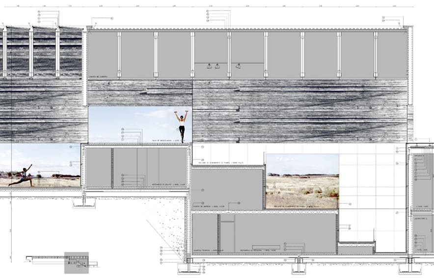 Polideportivo UAM - sección constructiva - arquitectura deportiva - LANDÍNEZ+REY | eL2Gaa