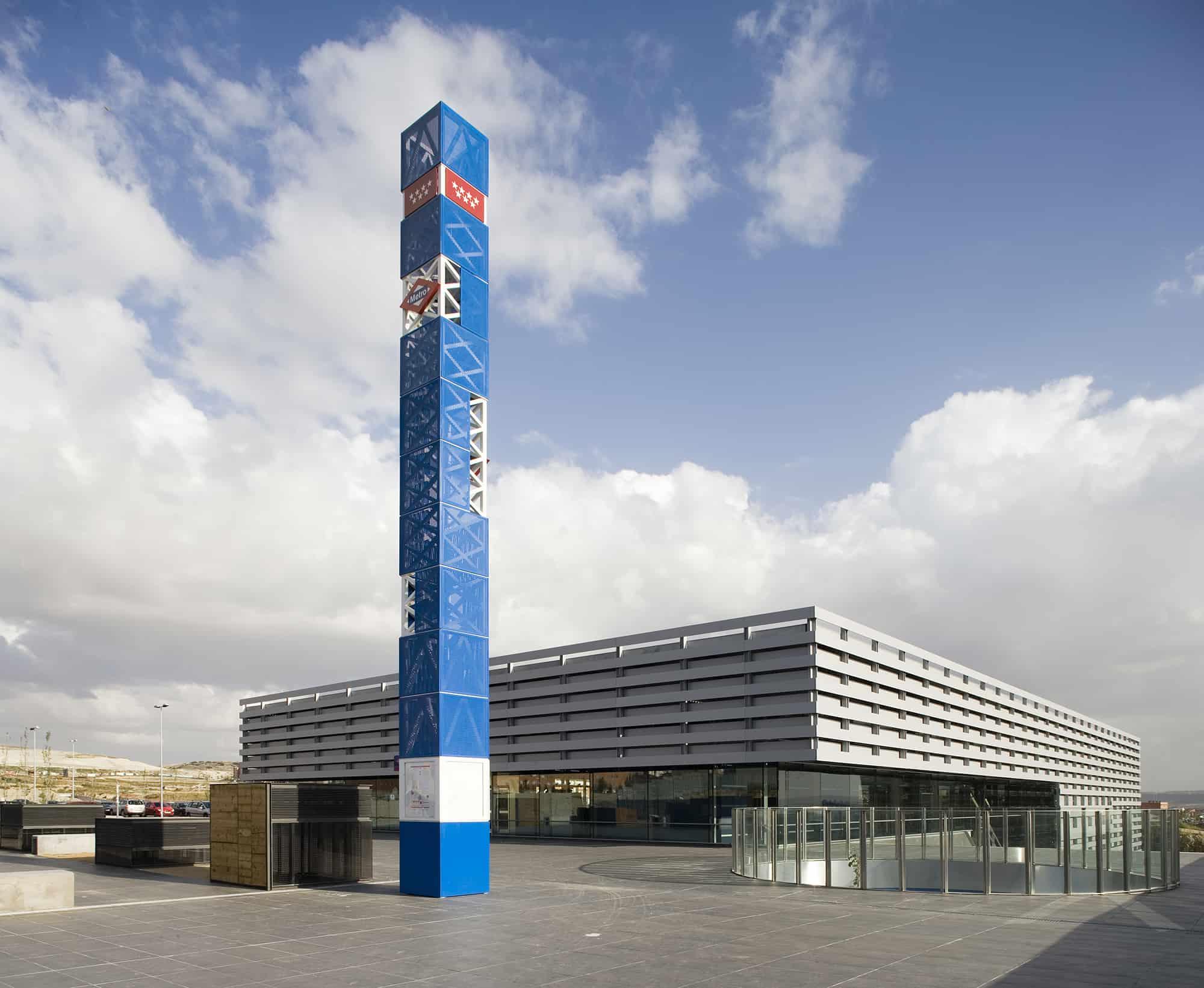 Estación Rivas Futura METRO de Madrid - arquitectura transporte - LGV+LANDINEZ+REY   equipo L2G arquitectos, slp [ eL2Gaa ]