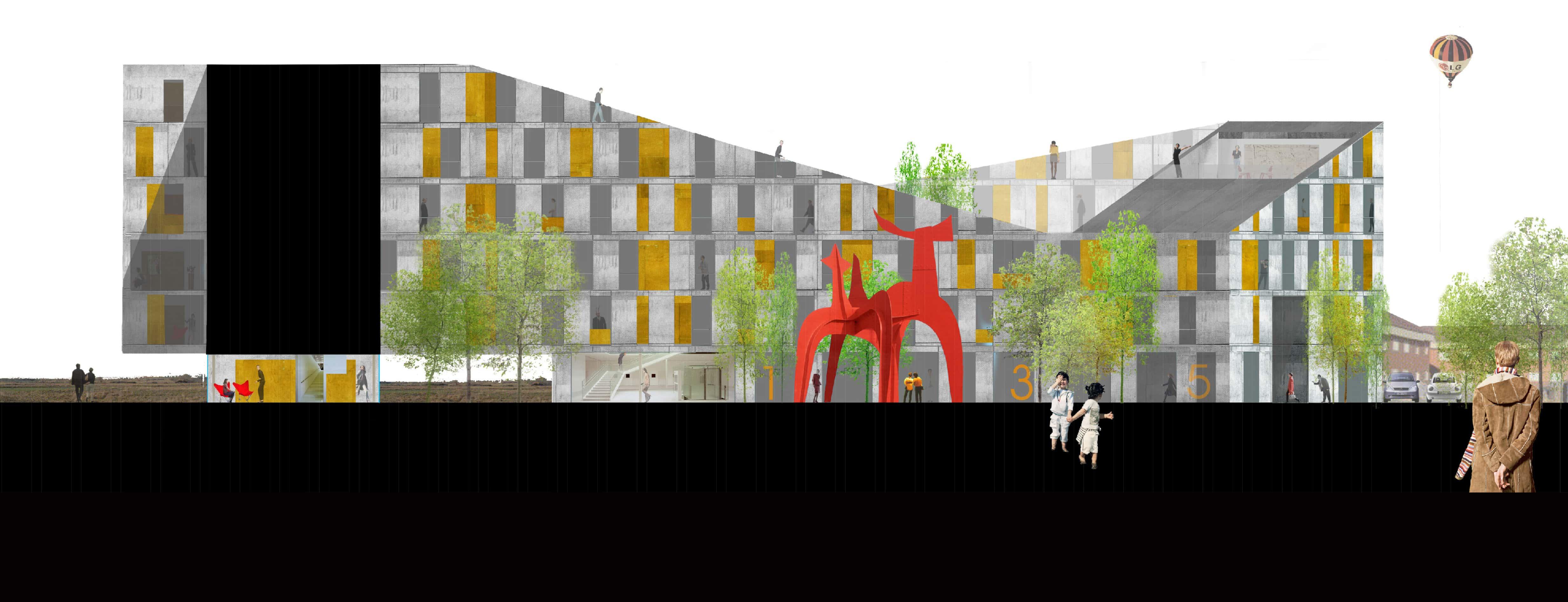 Collage concurso PARLA - LANDÍNEZ+REY | equipo L2G arquitectos, slp [ eL2Gaa ] + Raúl del Valle