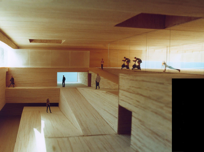 Polideportivo UAM - maqueta - arquitectura deportiva - LANDÍNEZ+REY | eL2Gaa