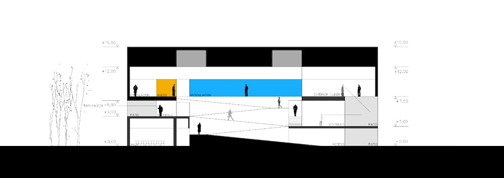 Polideportivo UAM - secciones - arquitectura deportiva - LANDÍNEZ+REY | eL2Gaa